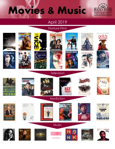 movie and music April 2019