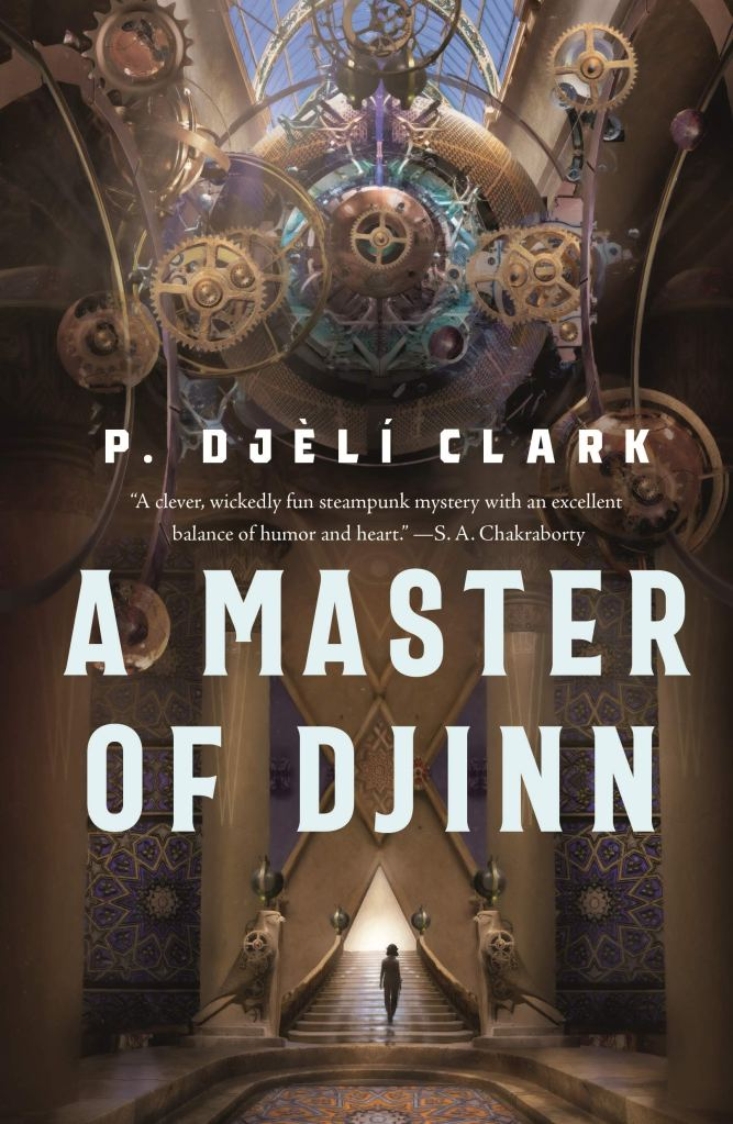 A Master of Djinn by P. DJÈLÍ Clarkbook cover and catalog link