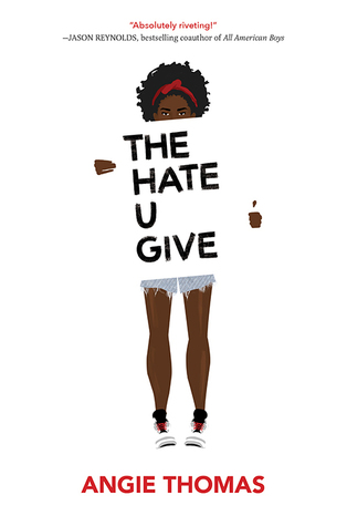The Hate U Give by Angie Thomas book cover + links to RRPL catalog