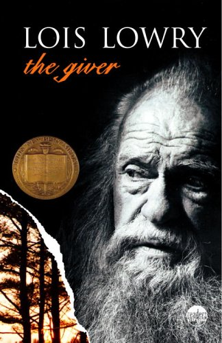 The Giverby Lois Lowry book cover that links to RRPL's catalog.